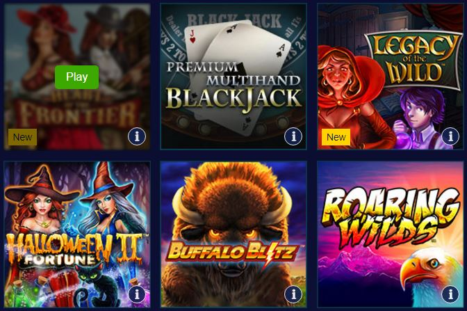 casino games William Hill