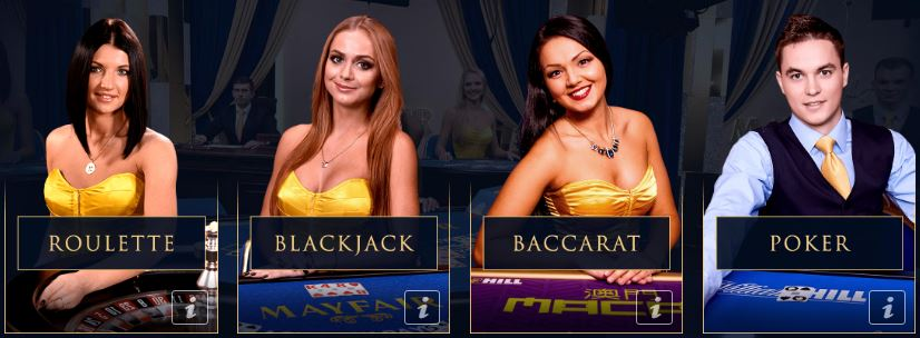 live casino games William Hill