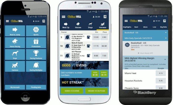mobile app William Hill